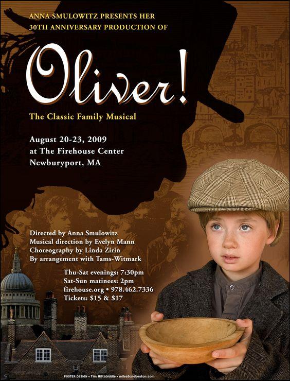 Oliver! • 2009 • poster designed by Tim Hiltabiddle