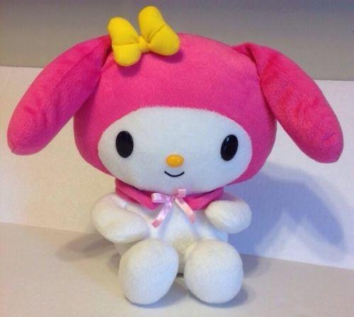 "10"" My Melody Hello Kitty Friend Pink Bunny Hat Plush Doll Toy 2007 Sanrio"