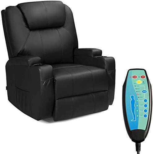 New Tangkula Electric Massage Recliner Chair 360 Degree Swivel