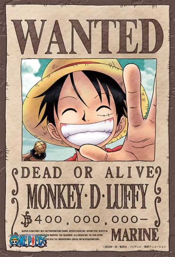 luffy one piece wanted poster picture one piece. Black Bedroom Furniture Sets. Home Design Ideas