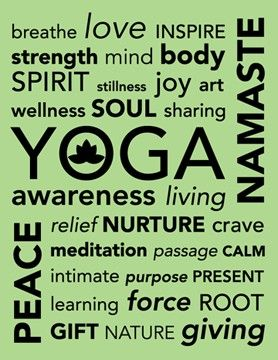 Yoga sign Vector Photo Print 85 x 11 by nlcorder on Etsy, $14.99