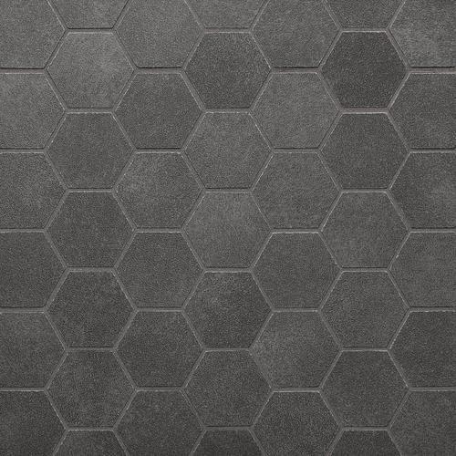 Uptown Antracite Hexagon Porcelain Mosaic Floor Decor In 2020 Porcelain Mosaic Flooring Hexagon Tile Bathroom