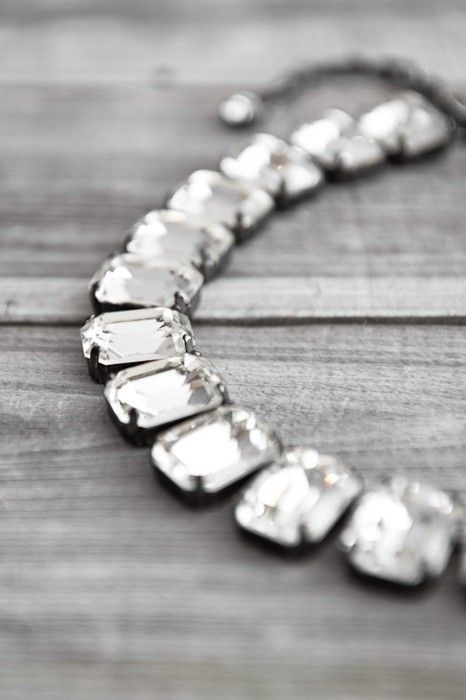vintage chunky rhinestone necklace