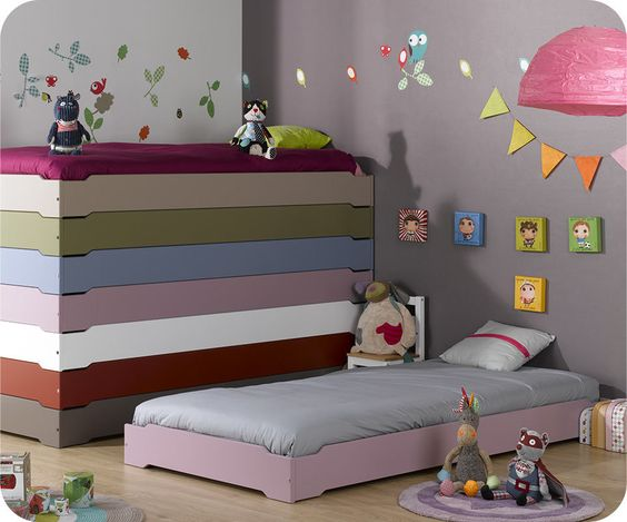 Lit enfant empilable Happy lee - Ma Chambre d'enfant .com