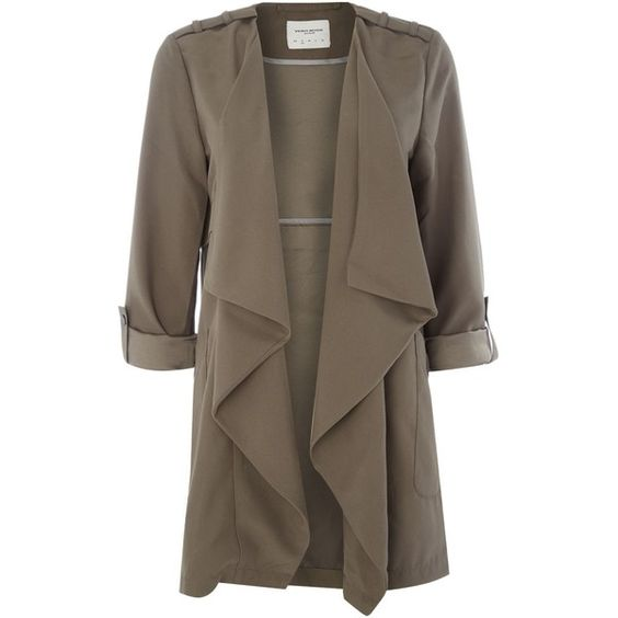 Vero Moda 3/4 Sleeve Jacket ($42) ❤ liked on Polyvore featuring outerwear, jackets, brown, women, trench coat, 3/4 sleeve jacket, long sleeve jacket, three quarter sleeve jacket and waterproof jacket