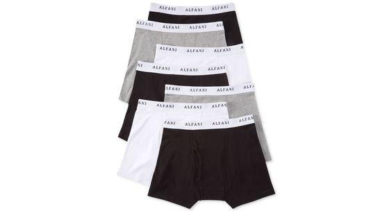 Alfani Men's Cotton Boxer Briefs 7-Pack