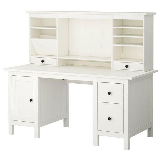 hemnes desk with add on unit white desk 279 hitch 150 home decor pinterest desks. Black Bedroom Furniture Sets. Home Design Ideas