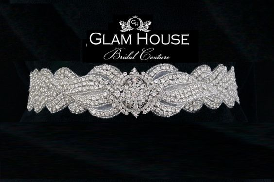 Beaded Bridal Sash Belt wedding sash  wedding by GlamHouse on Etsy, $185.00