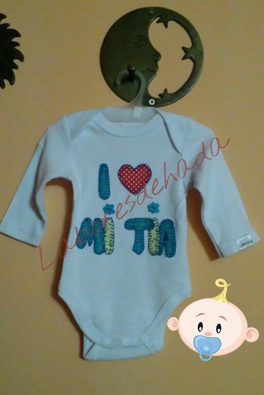 Body bebé I love mi tía laboresdehada