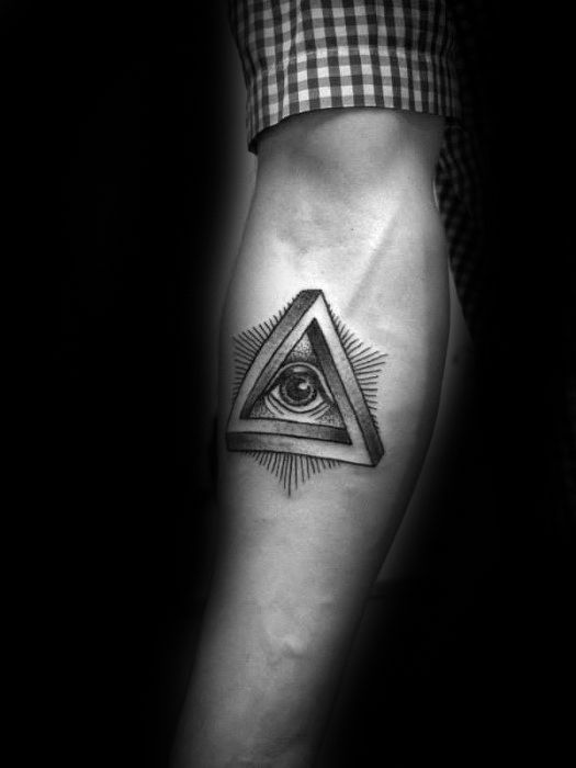 60 Penrose Triangle Tattoo Designs For Men Impossible Tribar Ideas Triangle Tattoo Design Triangle Tattoo Tattoo Designs Men