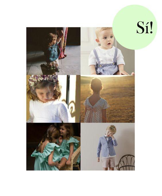 Inspiración para niños  Porque las bodas son el mejor momento para que vayan monísimos bodas, niños, arras, inspiración www.sialsiquiero.com