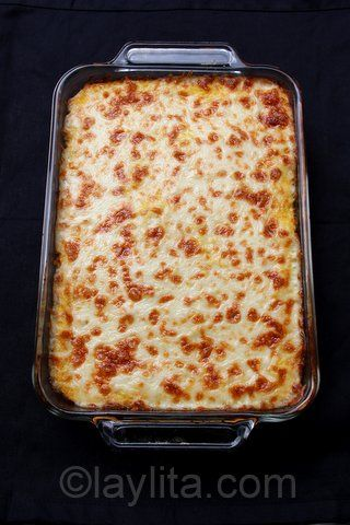 Pastel de choclo con queso or fresh corn and cheese Latin style casserole