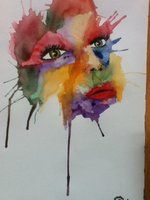 watercolor face by *captainsarasparrow on deviantART