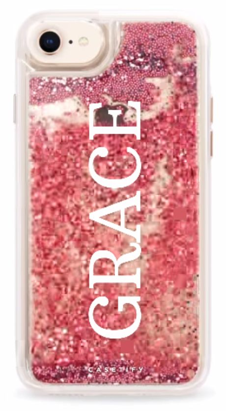 Personalized Glitter iPhone Case