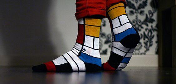 mondrian socks