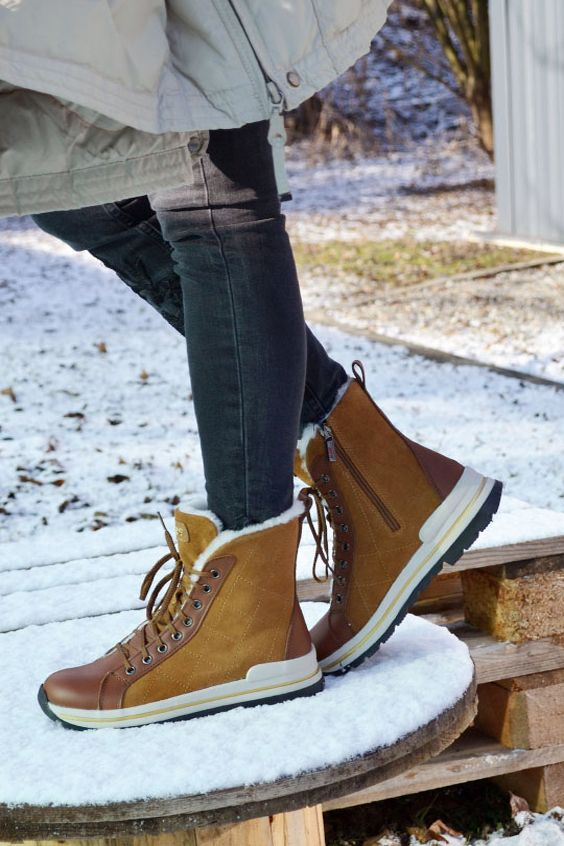 bottine femme fourrées ski