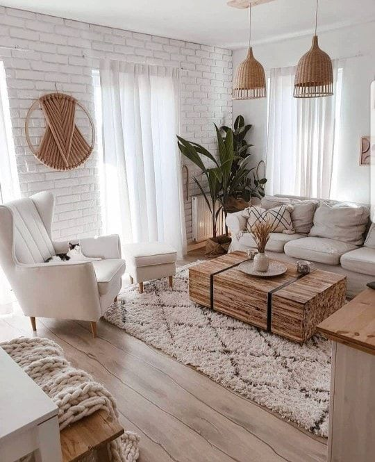 Rattan And Wicker Decor Apartment Living Room Living Room Scandinavian Farm House Living Room Peaceful living room decorating ideas