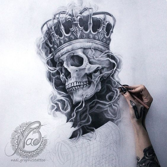 King skull tattoolove pinterest awesome i love and for Skull love tattoos