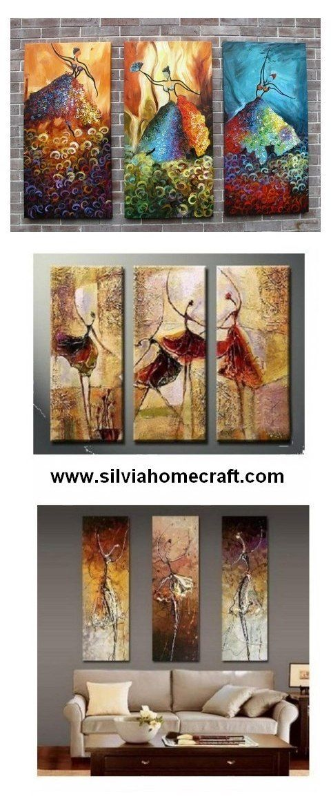 Pin On Sil 3 Panel Art Painting Group Paintings