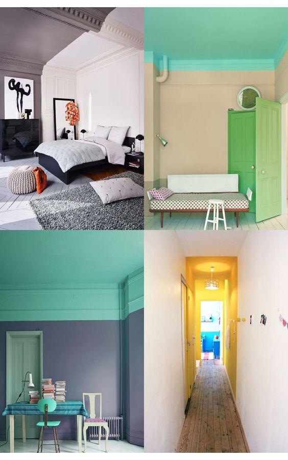 murs bicolores peindre une moiti pour gagner en quilibre. Black Bedroom Furniture Sets. Home Design Ideas
