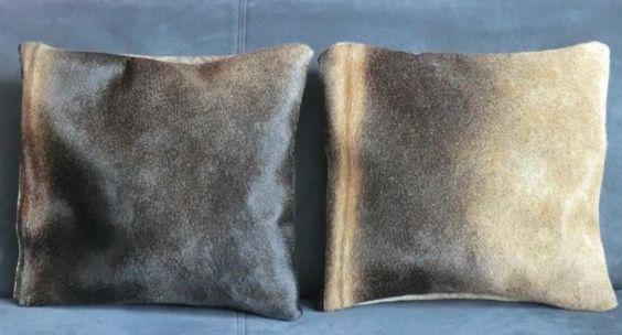 KUHIE, Kuhfell Kissen Set in grautönen von Gmischtesach:  Die Tasche mit der Kuh !! auf DaWanda.com
