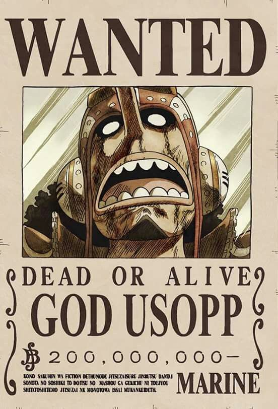 Usopp Wanted Poster One Piece Figure One Piece Bounties