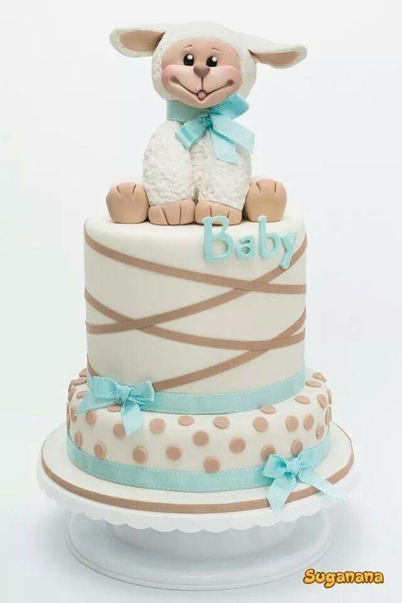 pasteles de baby shower para niño