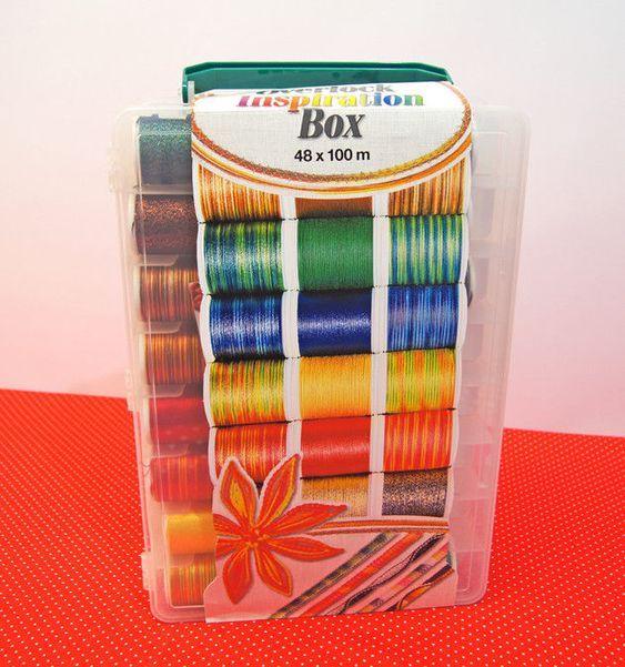 MADEIRA 8045 Stickbox Polyneon 18 Farben /à 400 m