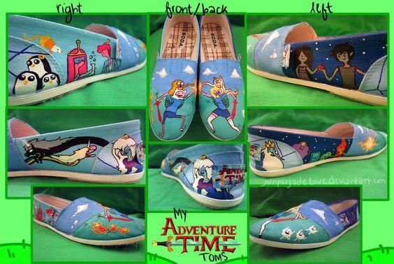 Adventure Time Toms by ~juniperjadelove
