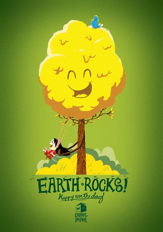 Happy Earth Day #tree #illustration #earthday