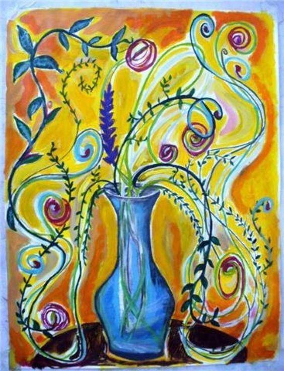 Tela  Tinta acrílica  Flores plásticas  Eu  Ateliê Arteando