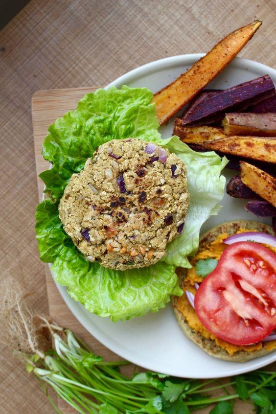 Cilantro Chickpea Veggie Burgers Recipe