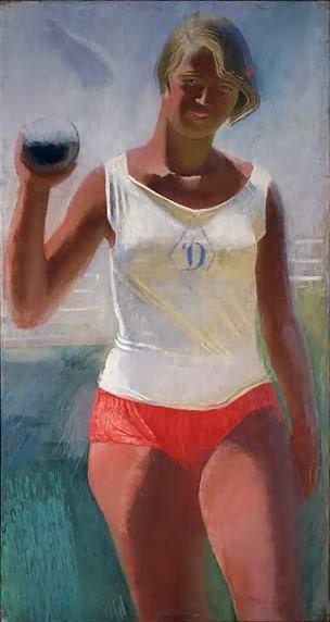 Александр СамоÑвалов. «Девушка с ядром». 1933 г.