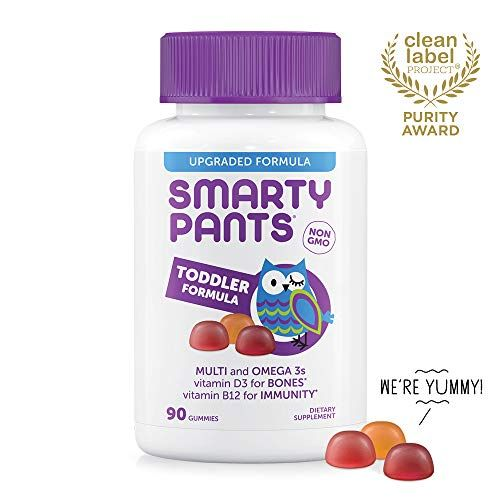 Smartypants Toddler Formula Daily Gummy Vitamins Gluten Free Multivitamin Omega 3 Fish Oil Dha Epa Methyl B12 Vitamin Gummy Vitamins Multivitamin Vitamins