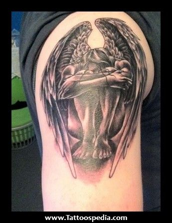 Religious Angel Tattoos For Men male arm tattoo galler...