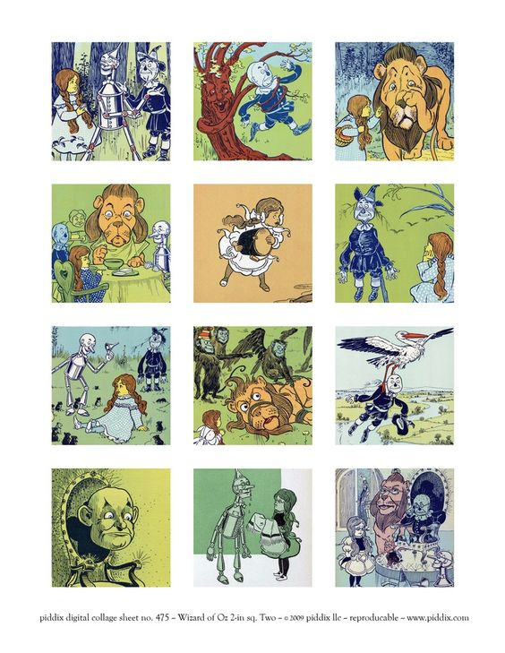 Clip Art For Wizard Of Oz 1900 Along With Wizard Of Oz Cast Characters Together…