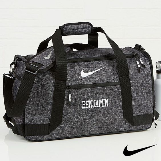 A personalized gym bag -Weird but actually smart Christmas gifts for guys - Todaywedate.com