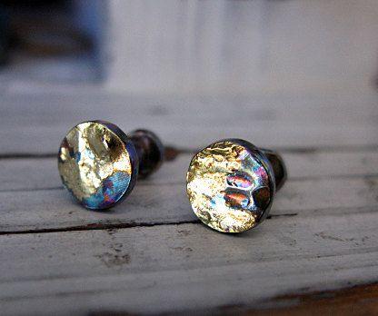 Ear Plugs Oxidized Silver Ear Plugs Silver by HotRoxCustomJewelry