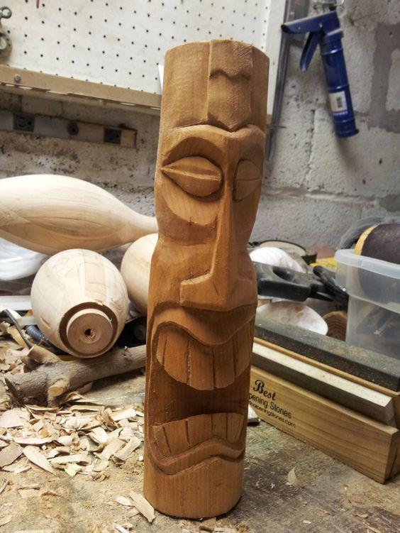 Surprise tiki by `jbensch woodworking pinterest art
