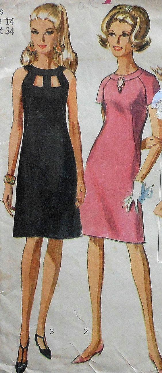 El vestido negro fue el de las damas en mi boda. 1970. No puedo creer que todavía alguien tenga ese patrón. Claro fue en variedad de colores pasteles.
