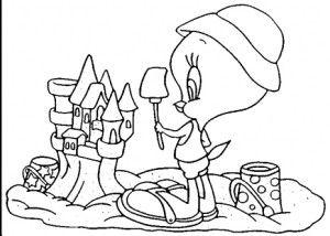 Tweety Sand Castle