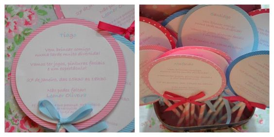 convites lollipops