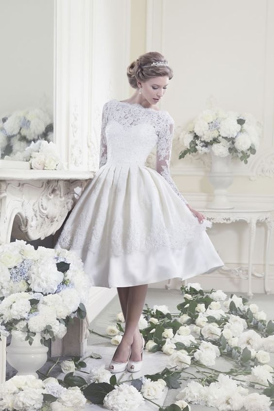 What would make you choose a 50s-style wedding dress? We find out why brides take the short and sweet route, rather than the long way round.