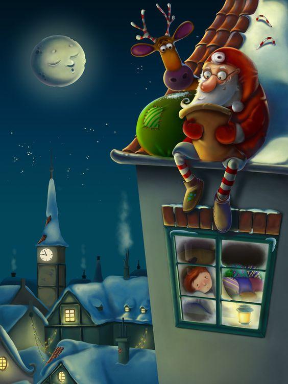 Santa by Anna Kulakovskaja, via Behance: