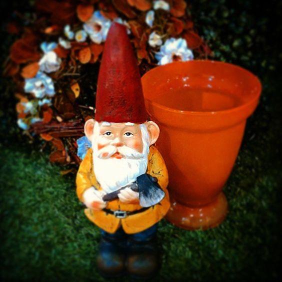 #MandarinaHome #Mandarina #jardín #gnomo #decoración #primavera #jarrón #regalo #flor #guirnalda #verde #seto #primavera2015