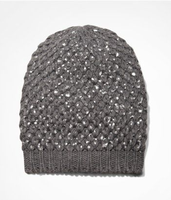 FOILED KNIT BEANIE | Express, 15-