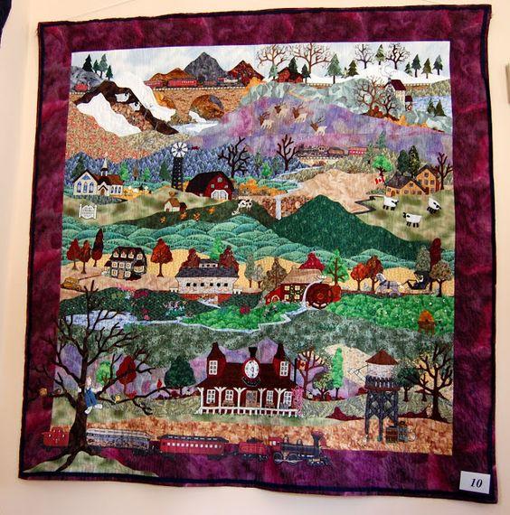 village-scape quilt - Laura Davidson