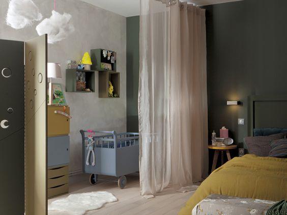 Et si on am nageait un espace pour b b dans notre chambre 1 d co chambre b b pinterest for Cloison chambre bebe