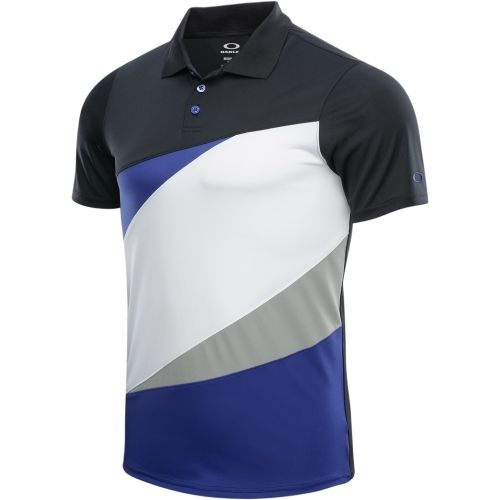 Oakley men 39 s color block polo golf shirt spectrum blue for Polo color block shirt