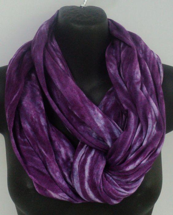 Purple tie dye infinity scarf in by qualicumclothworks on Etsy
